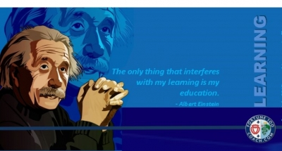 Albert Einstein on Learning Education